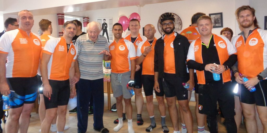 Arden House care home in Leamington Spa hosts cyclists