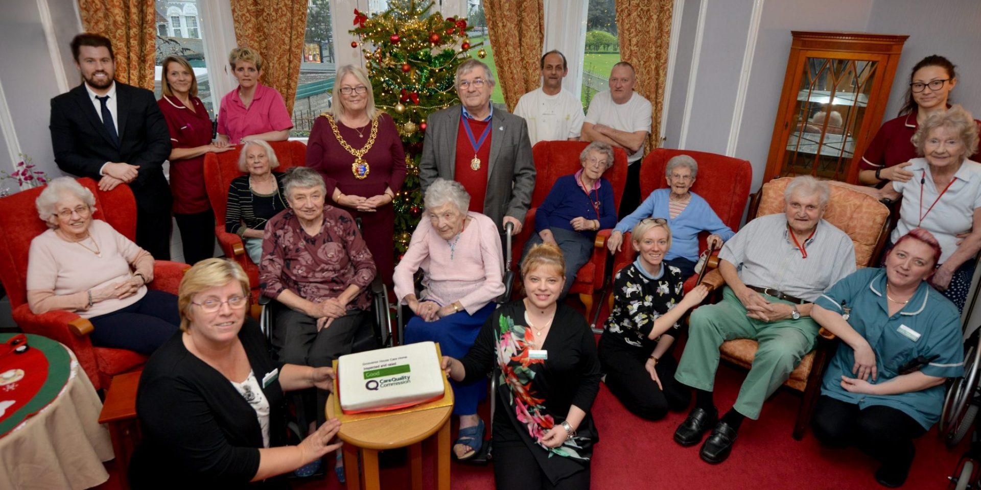 Celebrating Good CQC Rating at Grosvenor House Care Home