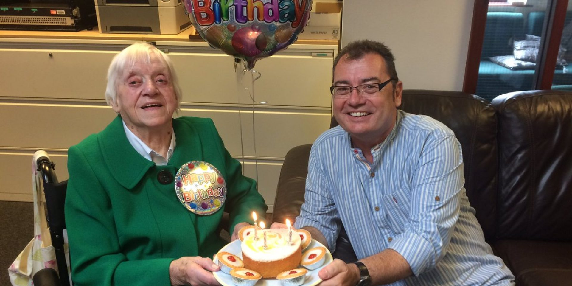 A Resident at Thornbank Care Home Celebrates 101 Birthday