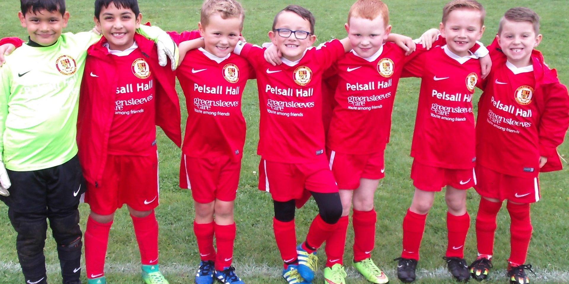 Pelsall Hall Care Home sponsor Young Football Team