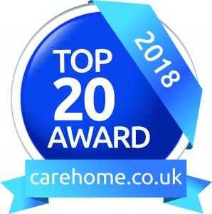 Top 20 carehome.co.uk award