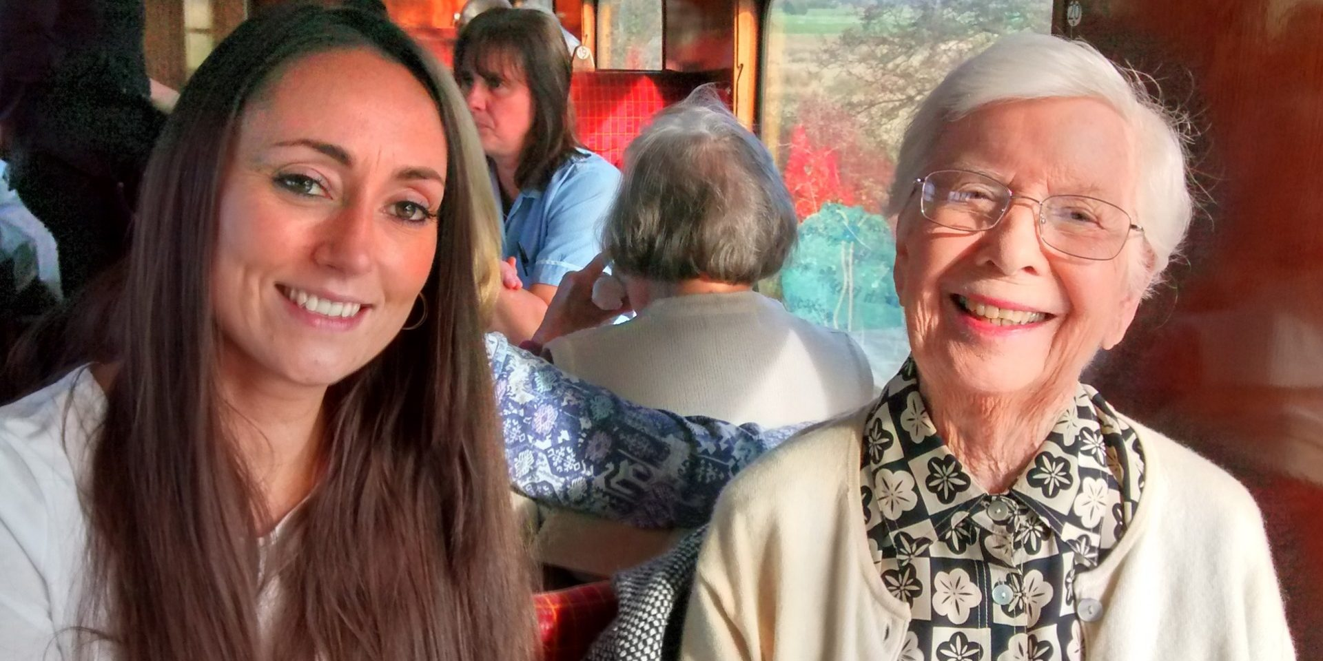 Hastings Care Home Residents on a Steam Train Journey