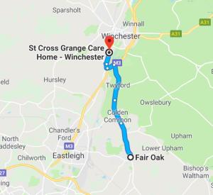 Care Home Fair Oak St Cross Grange Map