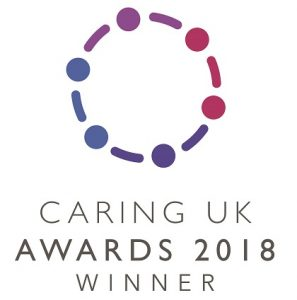 Caring UK Award 2018 logo
