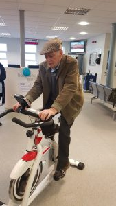 Alf 95 takes part in a cycling challenge
