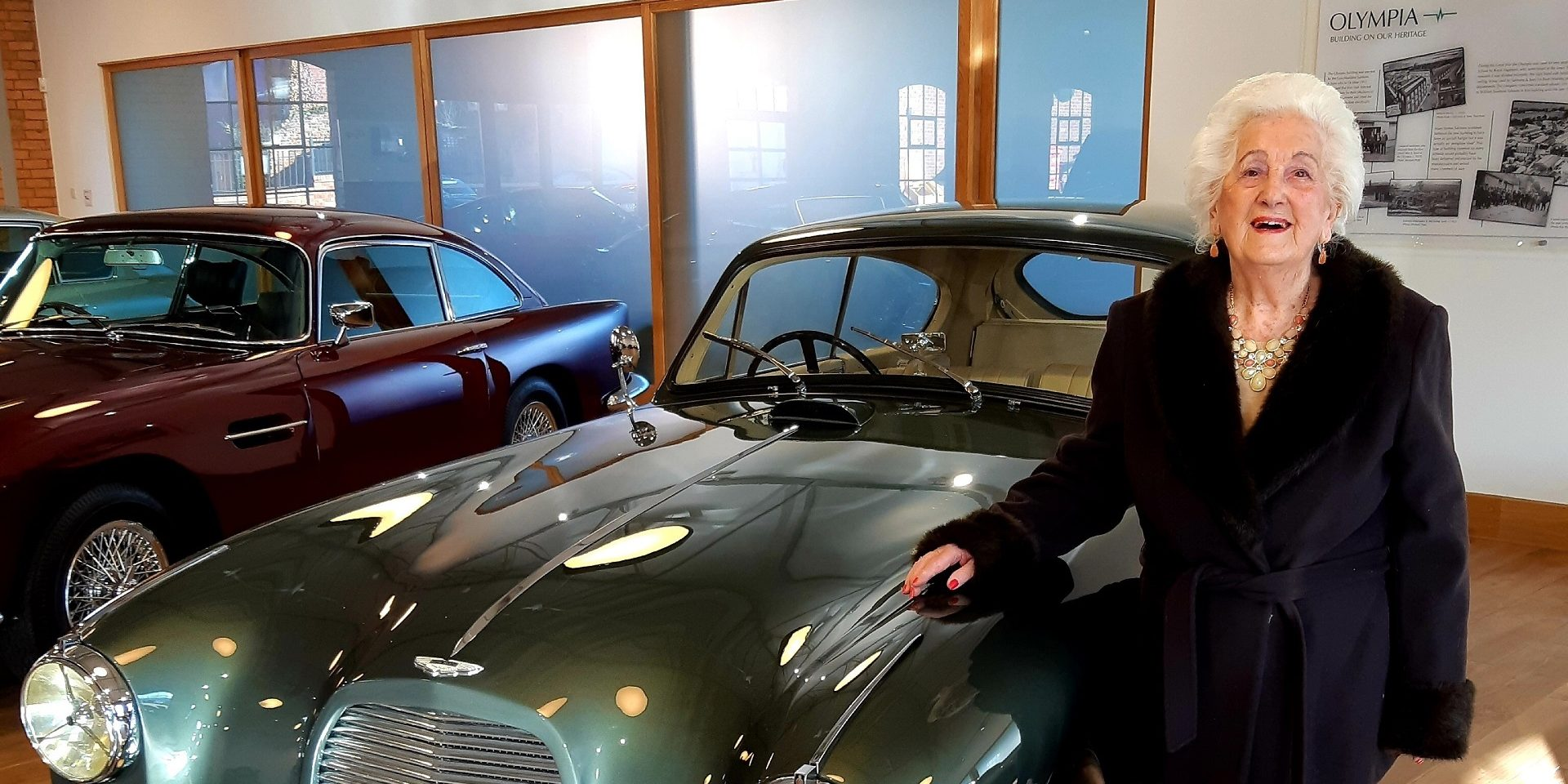 Tickford Abbey care Home resident visits Aston Martin showroom