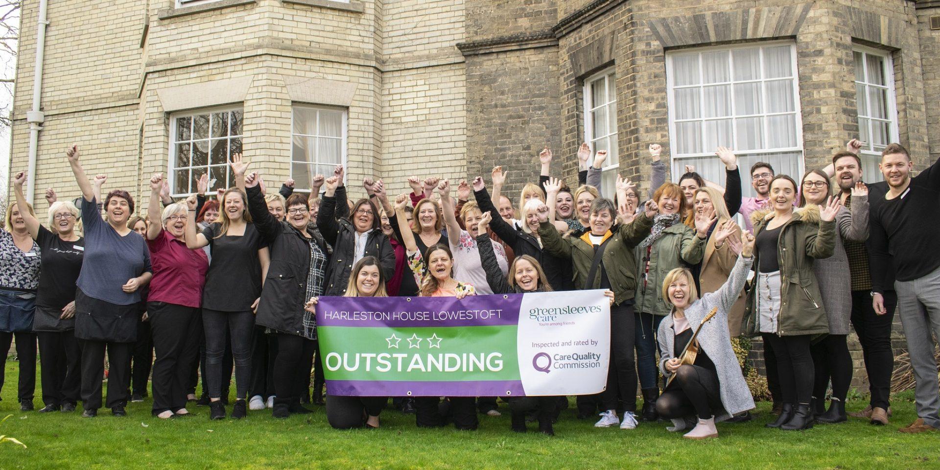 Harleston House in Lowestoft celebrates Outstanding CQC rating