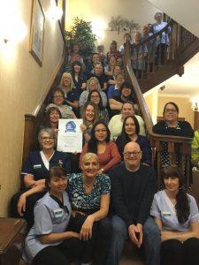 Broadlands won Top 20 Care Home Award