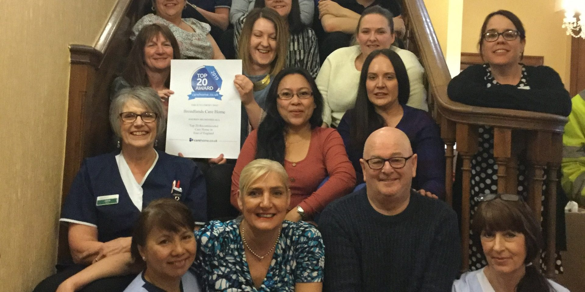 Broadlands receives Top 20 Care Home Award