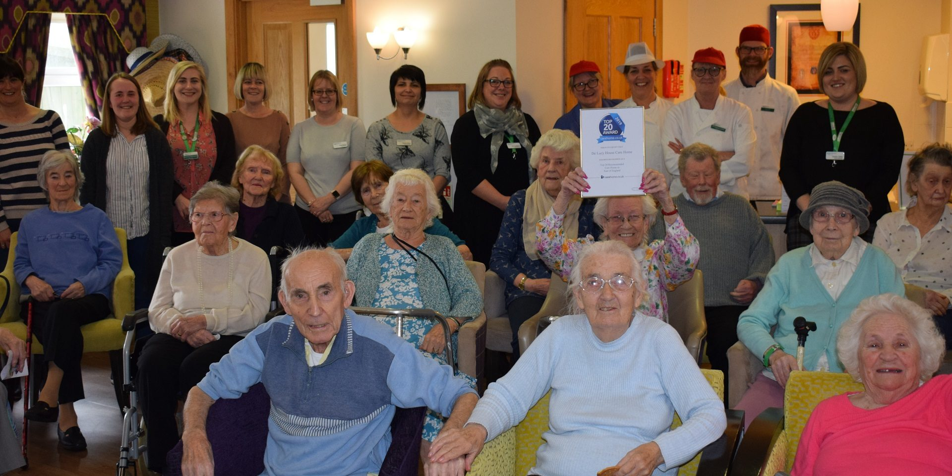 Top 20 Care Home Award for De Lucy House Care Home in Diss