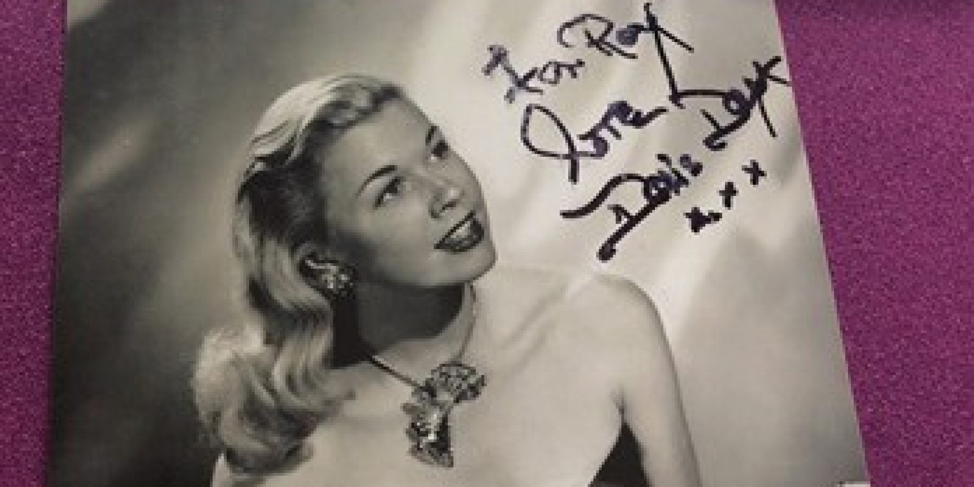 Harleston House resident receives a signed photograph from Doris Day