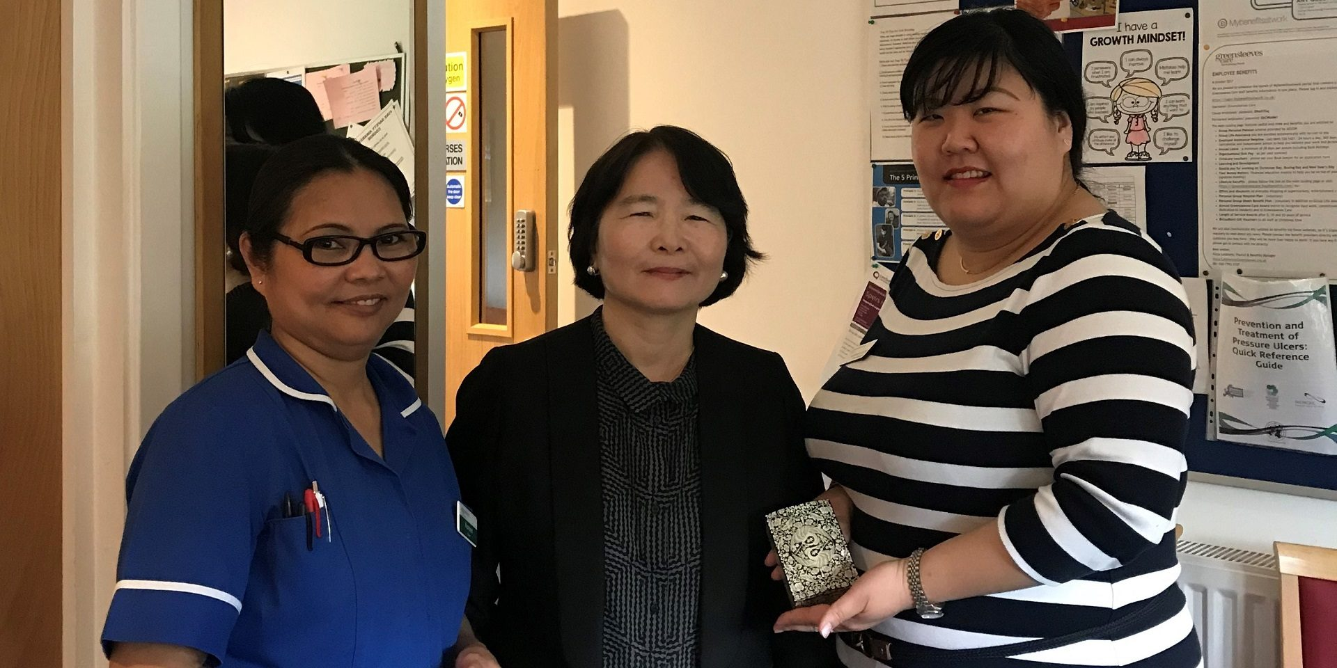 South Korean delegation at Speirs House