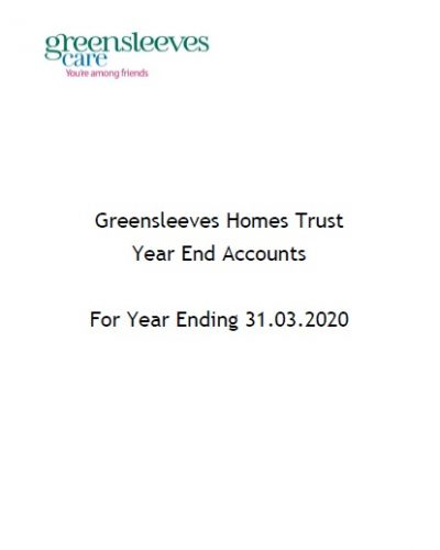 Greensleeves Homes Trust Year End Accounts 2020