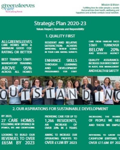 Greensleeves Care - 3 Year Strategy